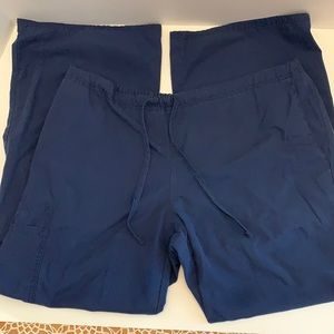 Scrub Pants Dark Blue Drawstring